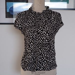 Zara high neck blouse